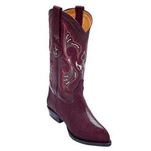 Los Altos Burgundy J-Toe Genuine Stingray 991206