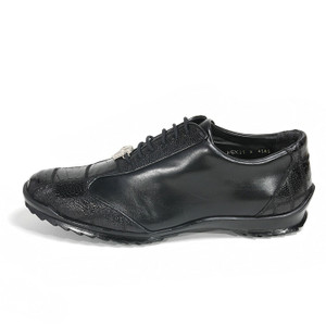 Los Altos Black Genuine Ostrich ZC091905