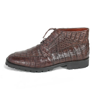 Los Altos Brown Genuine Caiman Casual