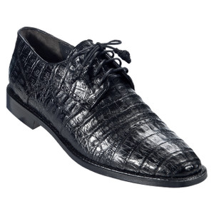 Los Altos Black Genuine Caiman Oxford