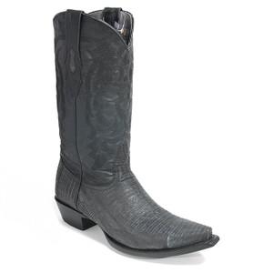 Los Altos Sanded Black Genuine Lizard Boot