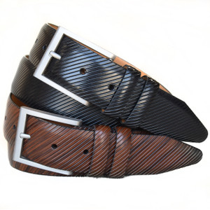 Lejon Beveled Edge Tan Full Grain Leather Belt