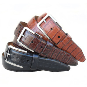 Lejon Lexington Black Genuine Leather Belt