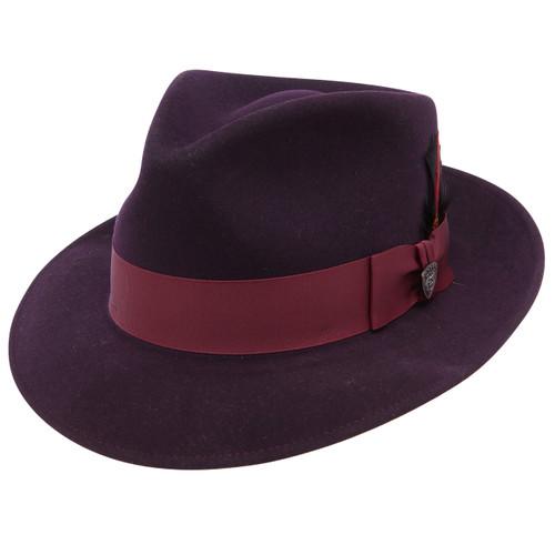 Dobbs Strand Burgundy Wool Hat