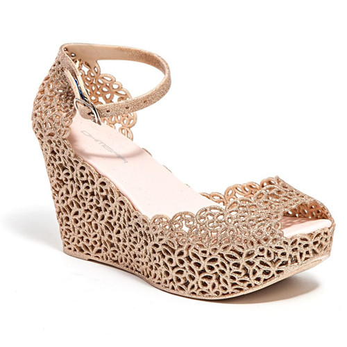 Lady Couture Fun Champagne Dress Wedges