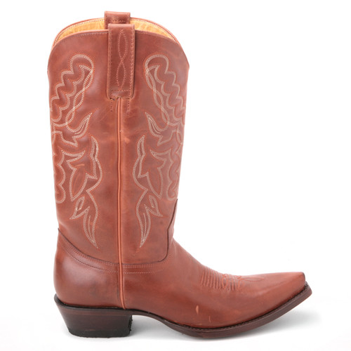 Brown Genuine Leather Boots By King Exotic