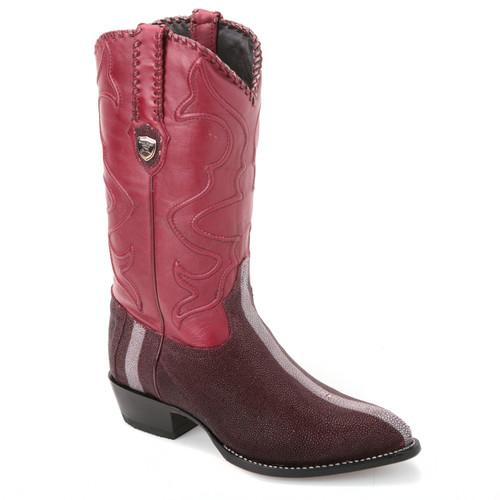 Wild West Burgundy Genuine Stingray Boots