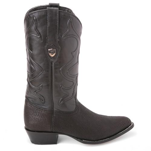 dbd034315a4 Wild West Black Genuine Shark Skin Western Boots