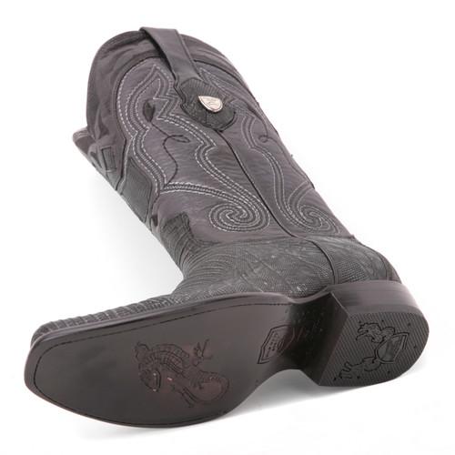 Wild West Black Genuine Lizardskin Boots
