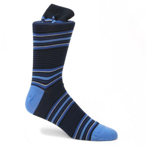 Tallia Navy & Blue Printed Socks