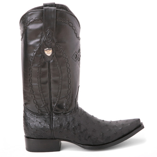 Wild West Black Full Quill Ostrich Boots