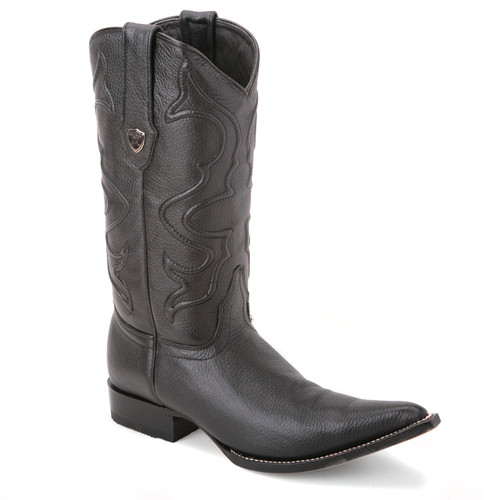 Impart a unique appeal to your collection with these boots in black from Wild West. The pair is made of genuine elk leather and features a stylish 3x-toe design