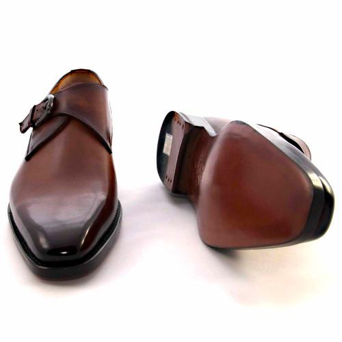Ugo Vasare Edward Camel Genuine Leather Monkstraps