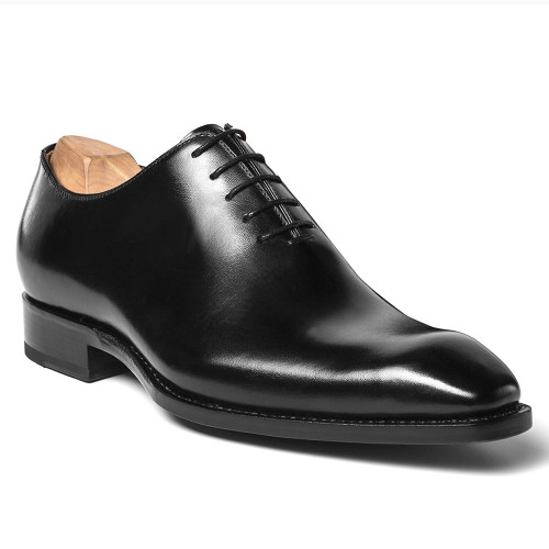 Ugo Vasare Jason Black Genuine Leather Oxfords