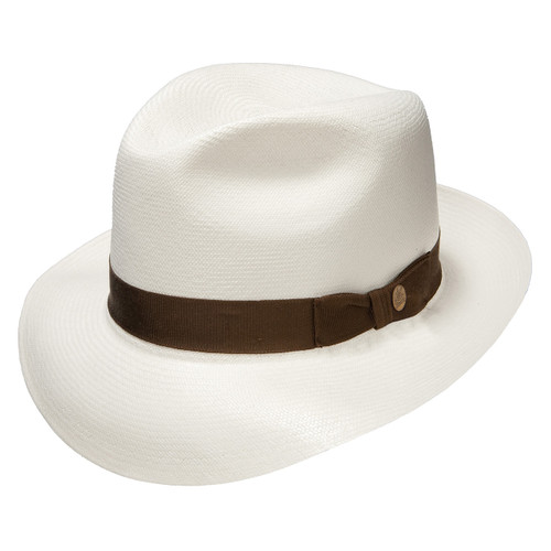 Stetson Ibarra Bleach Grade 20 Panama Straw Hat