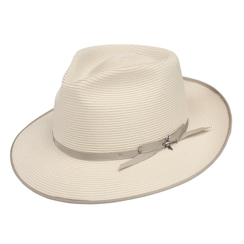 Stetson Stratoliner Beige Florentine Milan Firm Finish Straw Hat d07e166e765