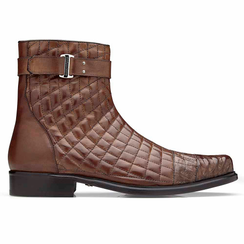 Belvedere Libero Maple  Caiman Crocodile and Quilted Leather Men's  Boots
