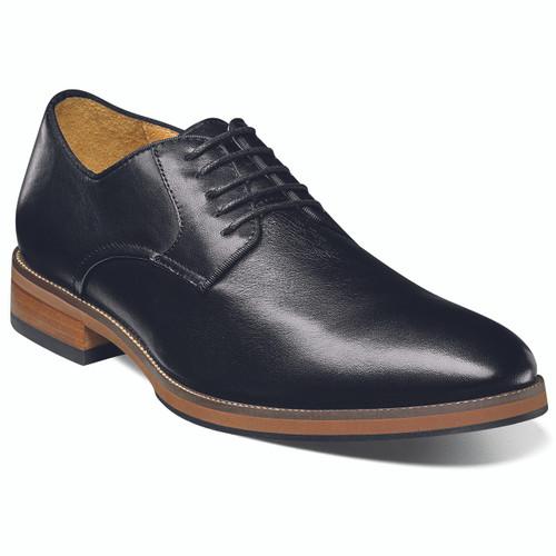 Florsheim Black Leather Plain Toe Oxfords