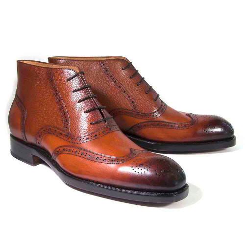 Ugo Vasare Stanford Camel Calfskin Ankle Dress Boots