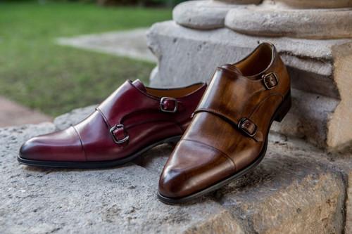 Jose Real TEATRIZ Collection Italian Leather Double Monkstraps