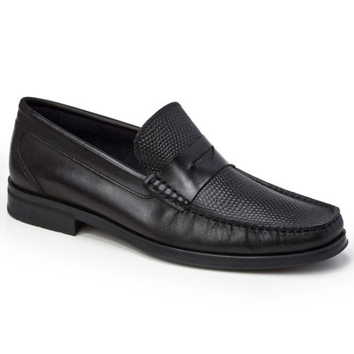 Sandro Moscoloni Siena Black Leather Penny Loafers