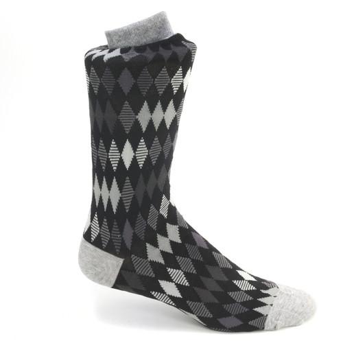 Tallia Black & Grey Multicolored Printed Socks