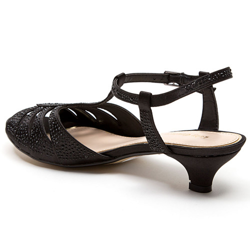 Black Betty Heel Lady Couture Kitten Sandals 354RjLqA