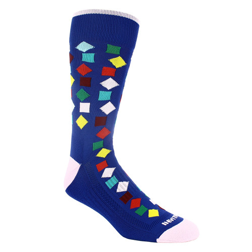 Remo Tulliani Gelding Royal Blue & Multi Patterned Socks