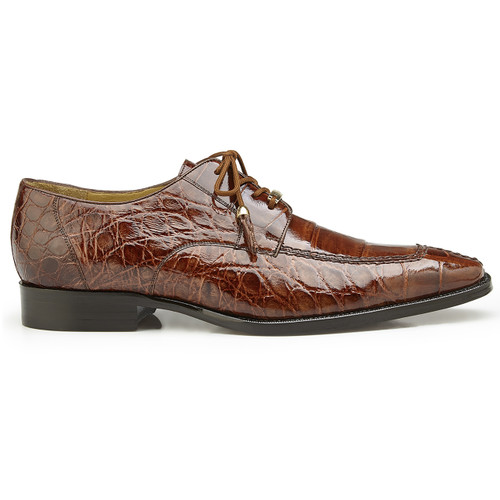 Belvedere Lorenzo Peanut Alligator Tassel Oxfords