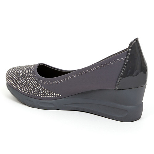 Chic by Lady Couture Faye Pewter Wedges