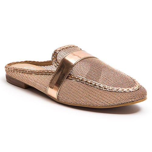 Chic by Lady Couture Jackpot Gold Mesh Mules