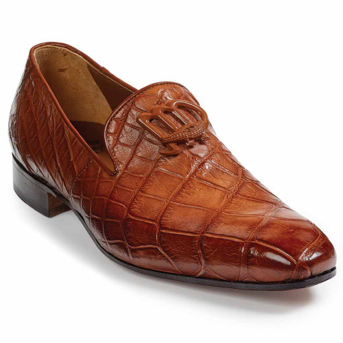 634fff9abdf Mauri Vanvitelli Gold Genuine Alligator Slip-ons