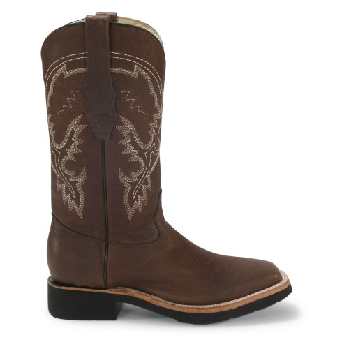 Los Altos Brown Rodeo Leather Boots