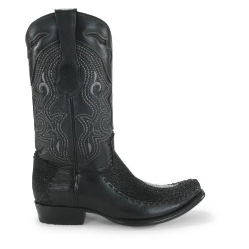 4022671fbd0 King Exotic Black Stingray & Deer Dubai Toe Boots