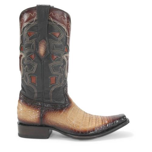 Los Altos Oryx Caiman Belly Square Toe Boots