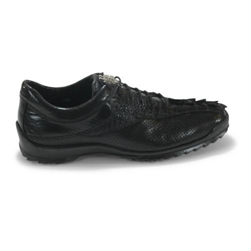 Los Altos Black Caiman Tail Casual Shoes