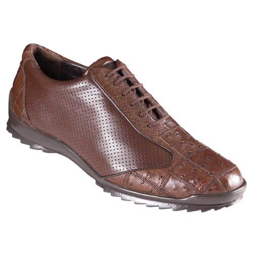 Los Altos Brown Ostrich Patch Casual Shoes