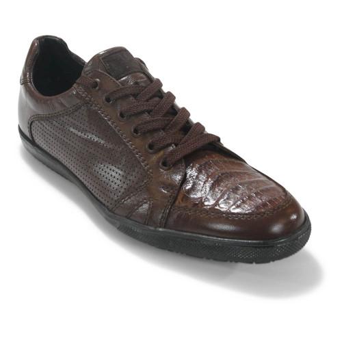 Los Altos Brown Caiman Belly Casual Shoes