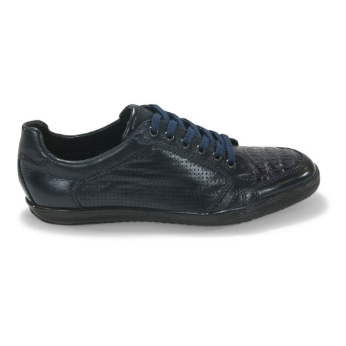 Los Altos Navy Caiman Belly Casual Shoes
