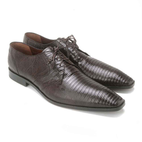 Los Altos Brown Genuine Teju Lizard Mens Oxfords