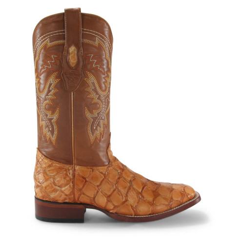 Los Altos Buttercup Glossy Pirarucu Square Toe Boots