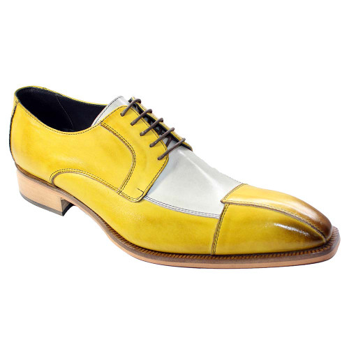 Duca Torino Yellow & Multi Calfskin Leather Oxfords