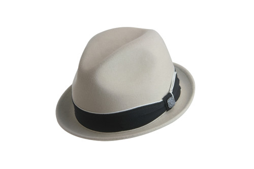 Bigalli Downtown Cream Wool Felt Fedora