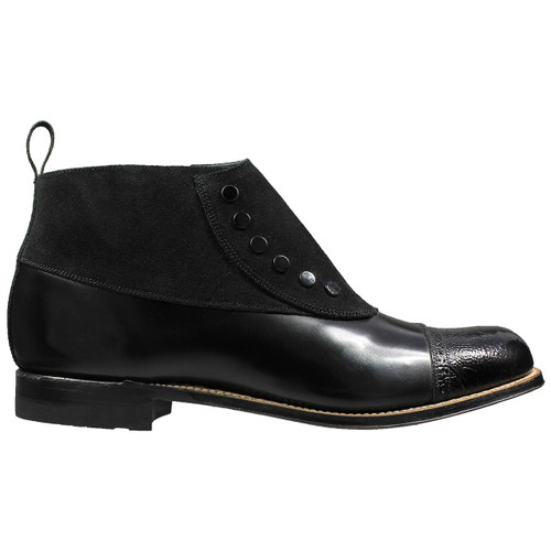 Stacy Adams Madison Black Leather & Suede Ankle Boots
