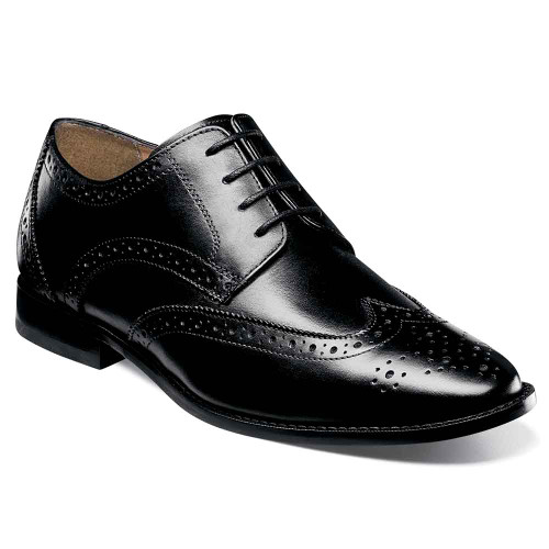 Florsheim Montinaro Black Leather Wingtip Oxfords