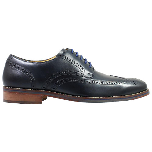 Florsheim Salerno Black Leather Wingtip Oxfords