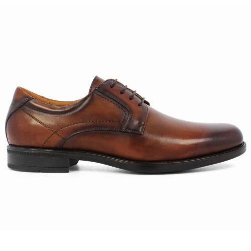 Florsheim Midtown Cognac Leather Plain Toe Oxfords