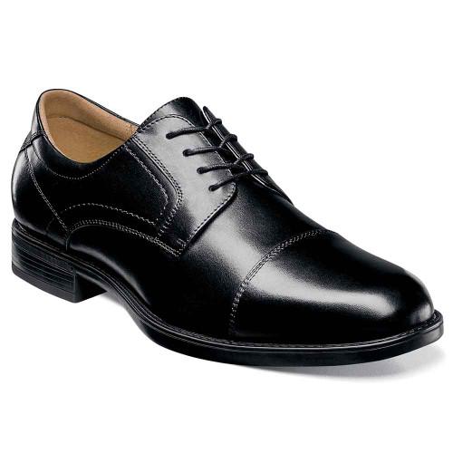 Florsheim Midtown Black Leather Cap Toe Oxfords