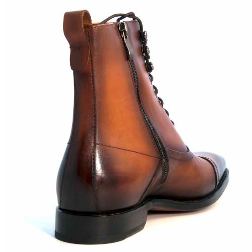 Ugo Vasare Brady Caramel Leather Lace-Up Boot