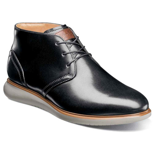 Florsheim Fuel Black Plain Toe Chukka Boot